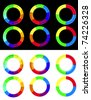 Colorful circle diagram - stock vector