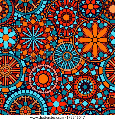 Colorful tribal patterns wallpaper