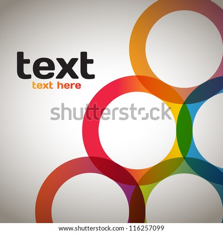 Colorful Circles - stock vector