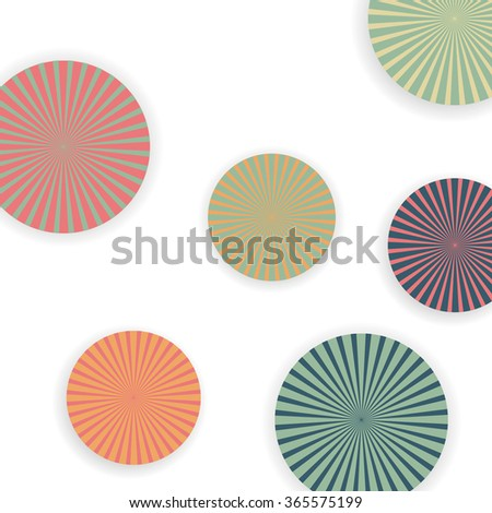 Colorful circles - stock vector