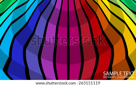 Colorful circular abstract background illustration - Vector colorful circular abstract background template - stock vector