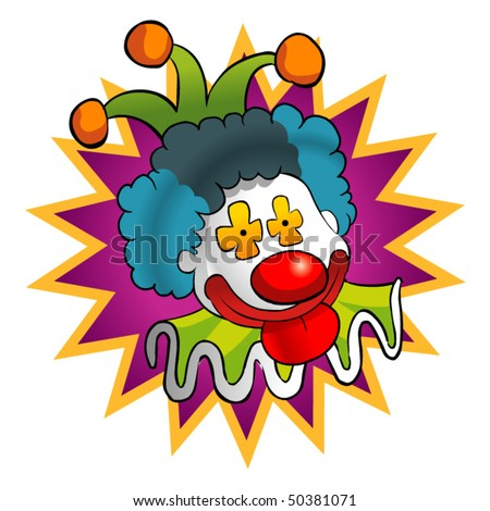 colorful clown - stock vector