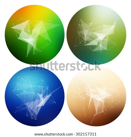Colorful collection set of trendy geometric abstract shapes for business visual identity- triangle, polygons and rectangular designs. Abstract Geometric Patterns Set with Hipster Design. - stock vector