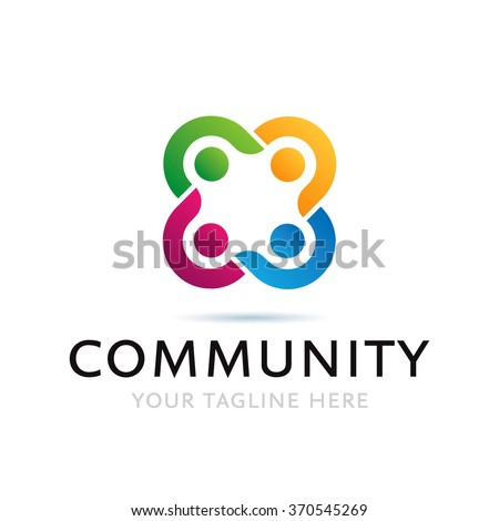 Colorful Community Logo Icon Elements Template