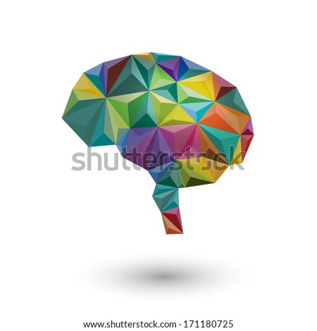 Colorful concept of the brain, eps10 vector - stock vector