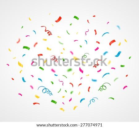 Colorful confetti background. Vector illustration - stock vector