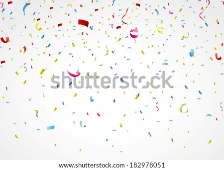 colorful confetti on white background  - stock vector