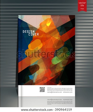 Colorful cover in a linear style. Colorful abstract lines on a gray background. Cover for business reports, books, booklets, brochures, posters. Stylish cover with space for text and title. - stock vector