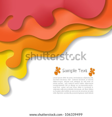 Colorful creative abstract business modern 3d vector background - stock vector