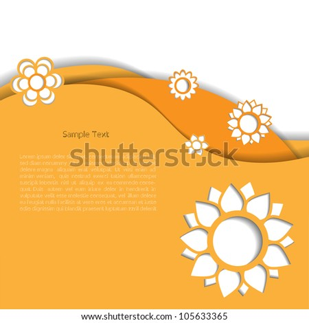 Colorful creative abstract business modern 3d vector speech bubbles withflower pattern - stock vector