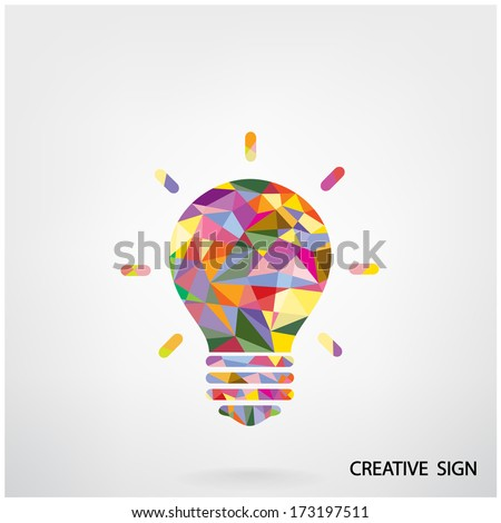 Colorful creative light bulb idea concept background design for poster flyer cover brochure ,business idea ,abstract background.vector illustration - stock vector