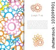 Colorful creative modern abstract nature vector background with flower pattern - stock vector
