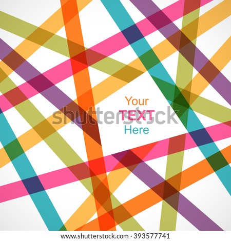 Colorful crossed lines abstract background with space for text. Pattern design for banner, poster, flyer, card, postcard, cover, brochure. - stock vector