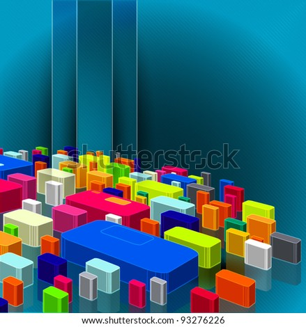 colorful cubes background, vector illustration. - stock vector