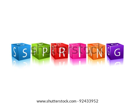Colorful Cubes Composed In Word String. Season concept. Vector - stock vector