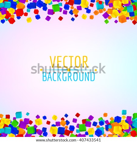 Colorful cubes composition.Background template.Vector cubes. - stock vector