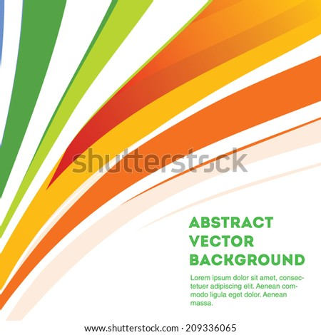 Colorful curve line vector background. Editable eps 10 illustration. - stock vector
