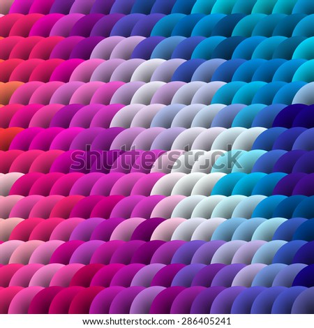 Colorful 3D circle background. Vector illustration. EPS10 - stock vector