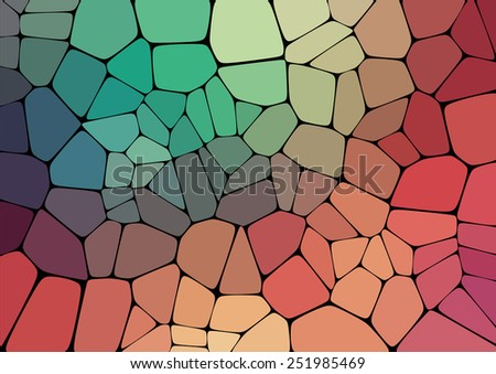 Colorful 2D mosaic abstract background - Illustration for web - stock vector