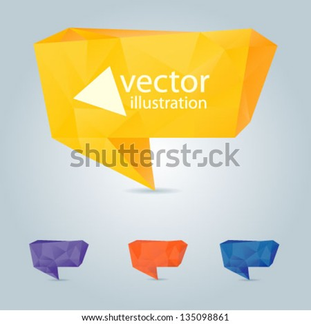 Colorful 3d speech bubbles . Vector illustration for your business website. - stock vector