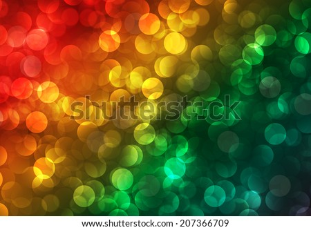 Colorful Defocused Light, Flickering Lights, Vector abstract festive background with bokeh defocused lights.