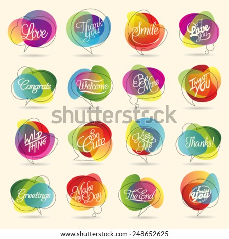 Colorful Design Element and Abstract Web Icon and logo Vector Symbol. Unusual icon and sticker set. Graphic design easy editable for Your design.  - stock vector