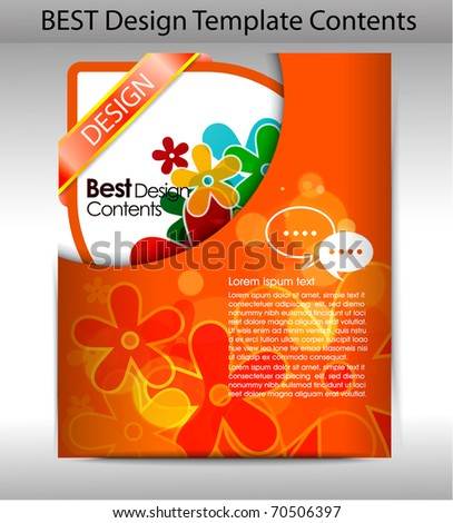 Colorful design folder background. editable vector illustration - stock vector