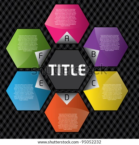 colorful design your text - stock vector