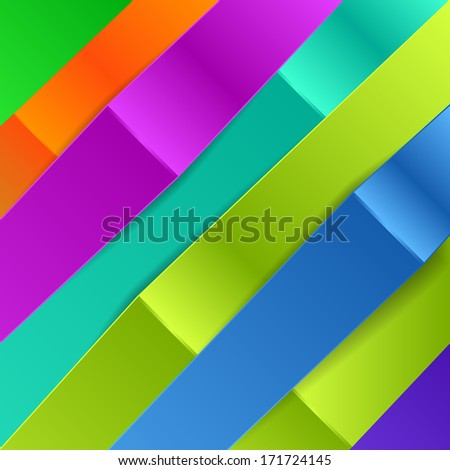 Colorful Diagonal Banners for Business. Vector