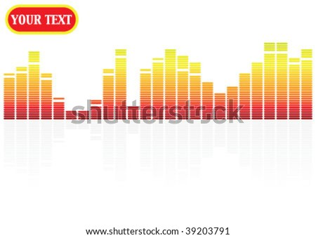 colorful different size 2d graph - stock vector