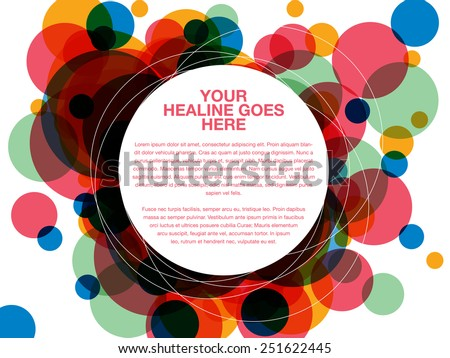 Colorful dot overlap design template - stock vector