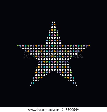 colorful dot theme star
