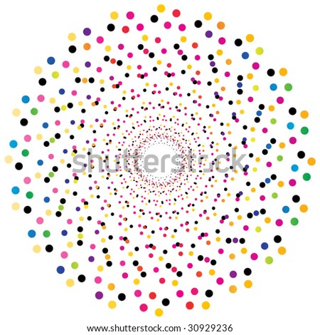 colorful dots illustration