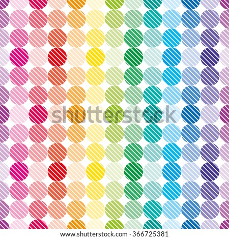 Colorful dots wallpaper. Seamless vector background. - stock vector