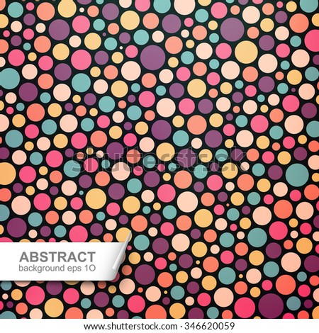 Colorful dotted abstract background. Easy to change colors. - stock vector