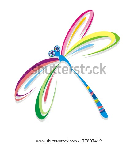 Dragonfly Vector Colorful dragonfly. vector