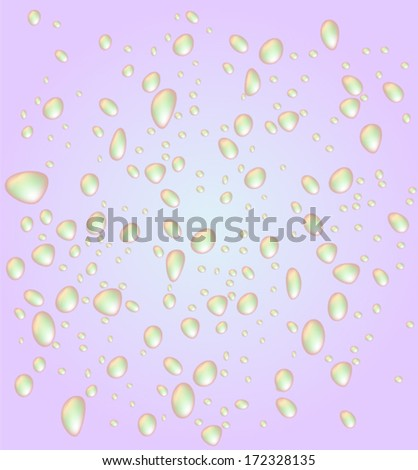 Colorful drops, vector background  - stock vector