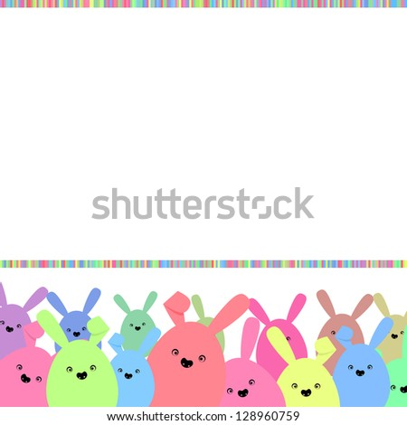 Colorful easter card with copy space. And also includes EPS 8 vector - stock vector