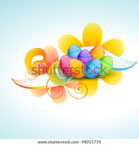 colorful easter egg vector illustration - stock vector