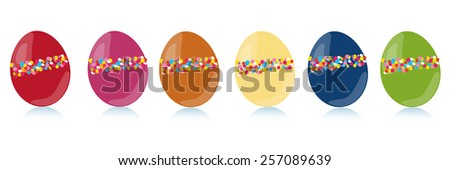 Colorful easter egg vector set  - stock vector
