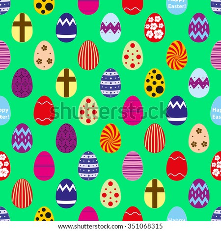 colorful Easter eggs design seamless pattern eps10 - stock vector