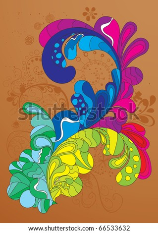 Colorful editable hand drawn illustration - stock vector