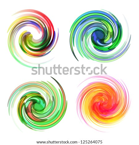 Colorful element set. Vector illustration.