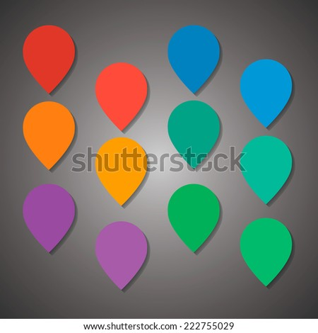 Colorful empty flat design tag waiting for your icon - stock vector