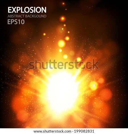Colorful explosion. Vector illustration