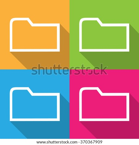 Colorful File Folder Vector EPS10, Great for any use. - stock vector
