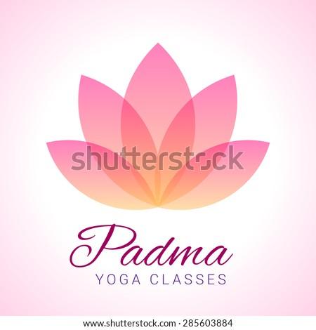 Colorful fivepetals lotus flower symbol yoga stock vector 285603884 colorful five petals lotus flower as symbol of yoga sample text padma mightylinksfo