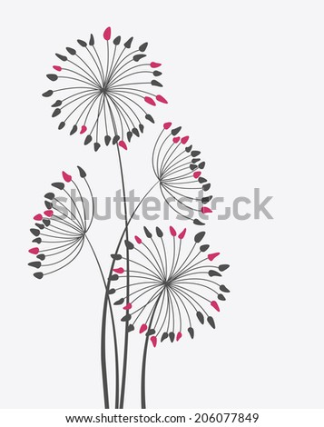 Colorful floral background with place for text - stock vector