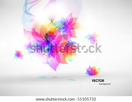 Colorful floral summer surface. Vector abstract background - stock vector