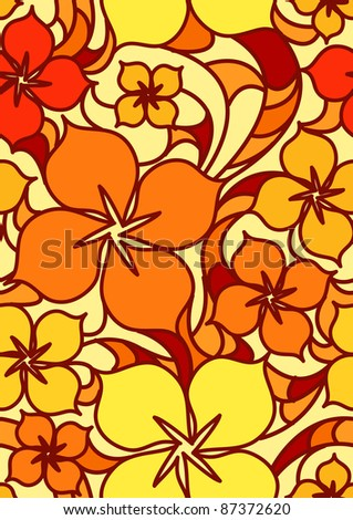 Colorful flowers seamless pattern. Vector illustration
